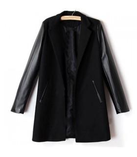 Manteau noir fantaisie