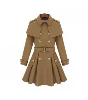 Militar cream fashion coat