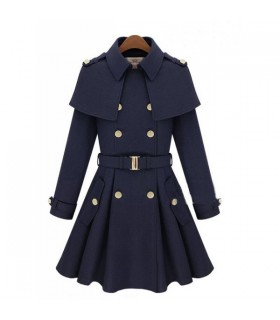 Militar blue fashion coat