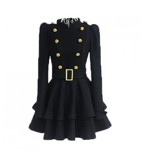 Cool Long Sleeves Coat-Dress For Women
