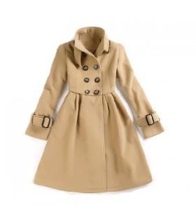 Doux manteau col montant