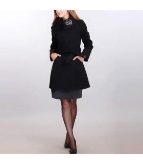 Manteau col roulé noir