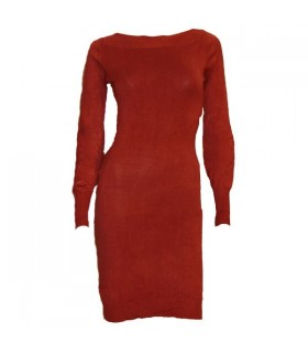 Fashion gorgeous modern stlye brick color dress