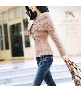 Schönen weichen rosa Pullover