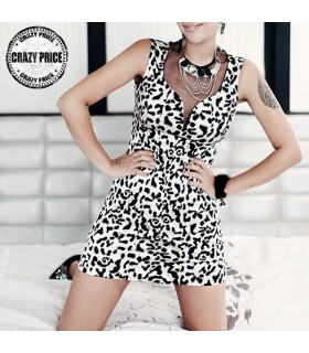 Leopard gauze dress