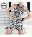 Robe de gaze léopard