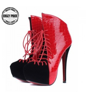 Red trendy hot shoes