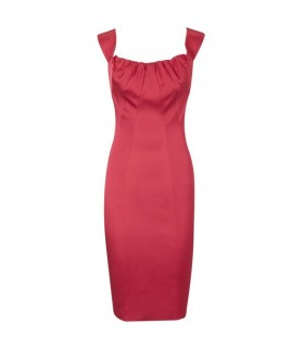 Red special pencil dress