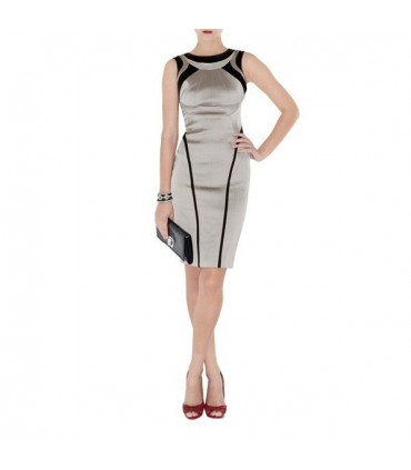 Spezielle passende Form satin Kleid Größe 36