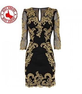 Schickes gold schwarzes Kleid im Barokstil