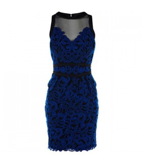Electric blue lace special dress