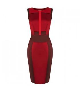 Nuances de rouge spécial coupés robe