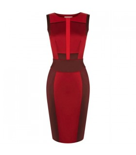 Shades of red special cut dress