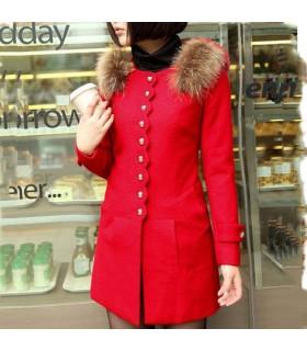 Cappotto rosso fantasia