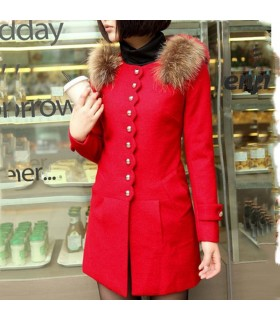 Manteau fantaisie rouge