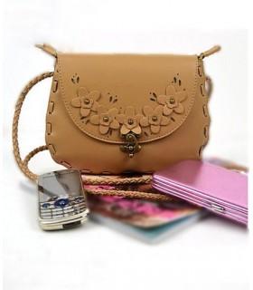 Vintage Handtasche in khaki