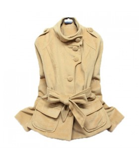 Camel short coat
