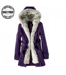 Purple casual coat