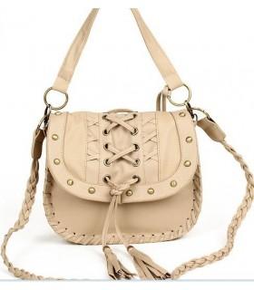 Handtasche mit Strickmuster