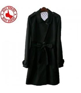 Schwarzen Trenchcoat