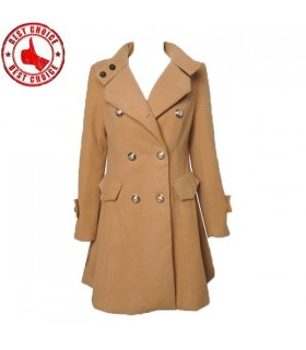 Slim design long coat