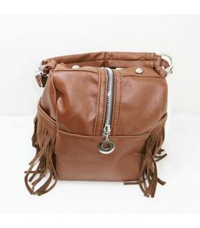 Lässige Handtasche mit Reißverschluss
