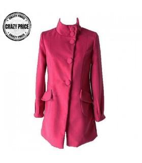 Rosa Freizeit Stil Mantel