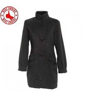 Schwarz Freizeit Stil Mantel