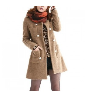 Pockets casual middle lenght  coat