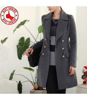Elegant deep grey coat