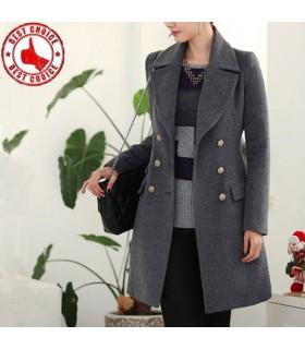 Elegante cappotto grigio profondo