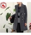 Elegant deep grey coat