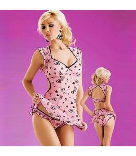 Pink sweet heart lingerie