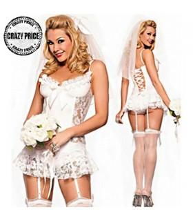 Weiße Hochzeit Dessous