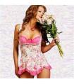 Romantic pink babydoll lingerie