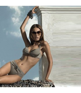 Olive green gorgeous two piece swimsuit
