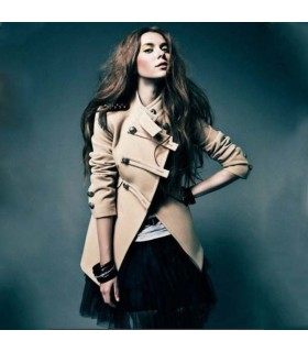 Manteau chaud de style britannique