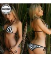 Zebra two piece swimsuit