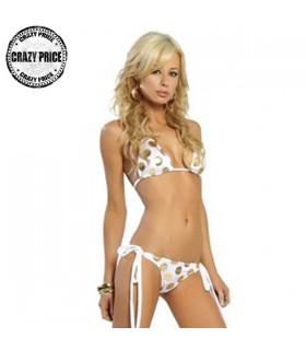 Golden gepunkteter zweiteiliger Bikini
