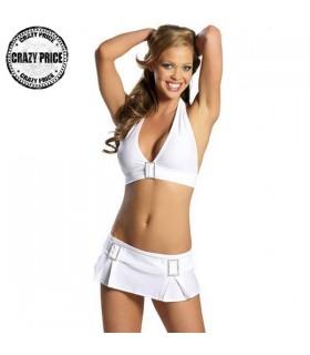 Weißes Bikini Top mit Rock