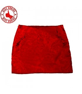 Red brocard skirt