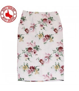 Pencil skirt flower pattern
