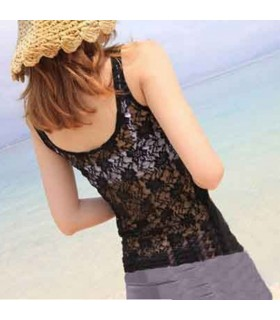 Lacing embellish back top
