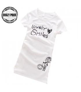 Top bianco magnifico sorriso