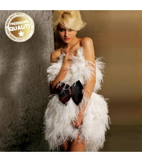 Robe de luxe courte sexy de plume