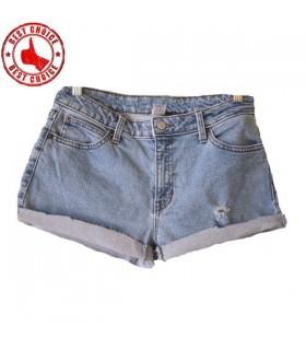 Jeans corto bandiera americana