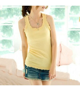 Giallo assetto top in pizzo