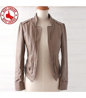 Fashion short leather type jacket