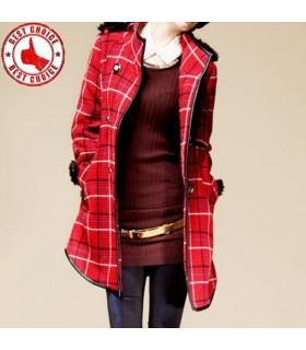 Chic manteau matelassé joli motif