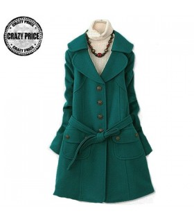 Green leisure fashion coat
